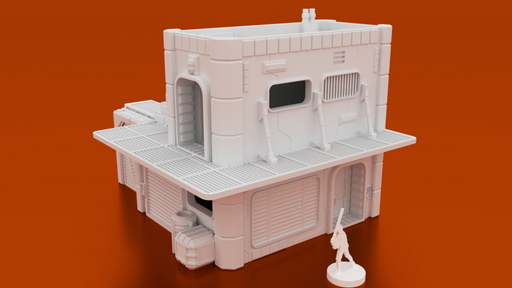 MidRim City Shop Type 'A' Digital STL 3D Printable