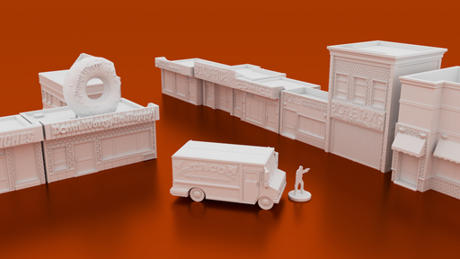 Corvus Games Terrain 3D printable Phase 2 bundle of urban and modern 28mm scale terrain for The Walking Dead, Fallout, Marvel Crisis Protocol.png