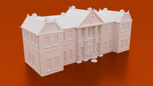 Corvus Games Terrain 3D printable Stewart Academy Mansion for Marvel Crisis Protocol 28mm scale