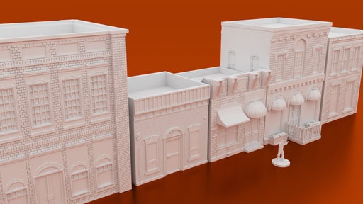 Corvus Games Terrain 3D printable Woodbury small town for 28mm wargames like Fallout, The Walking Dead, Marvel Crisis Protocol
