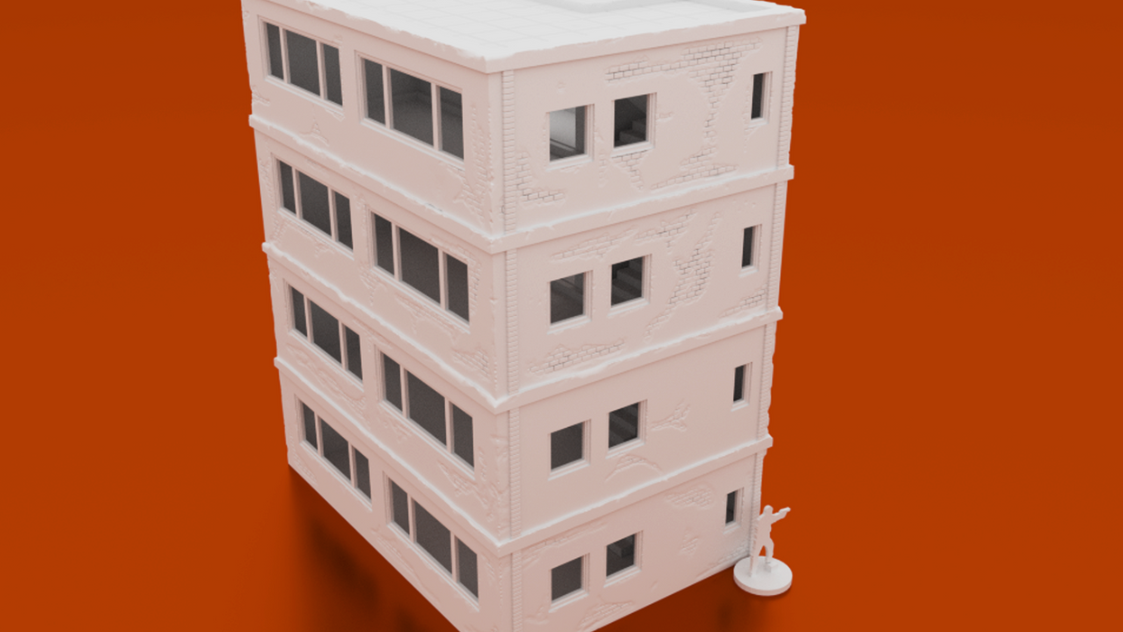 Corvus Games Terrain 3D printable middle eastern apartment block for 28mm urban wargaming Spectre Operations