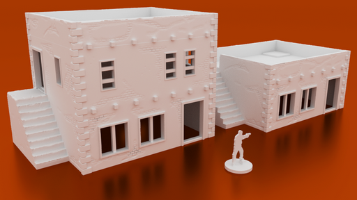 Corvus Games Terrain 3D printable middle eastern urban house for 28mm modern urban wargaming Spectre Operations, The Walking Dead, Fallout