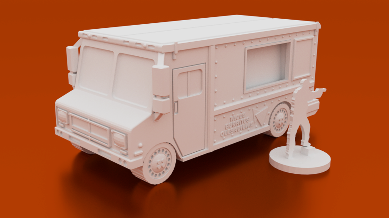 Urban Taco Truck Digital STL 3D printable