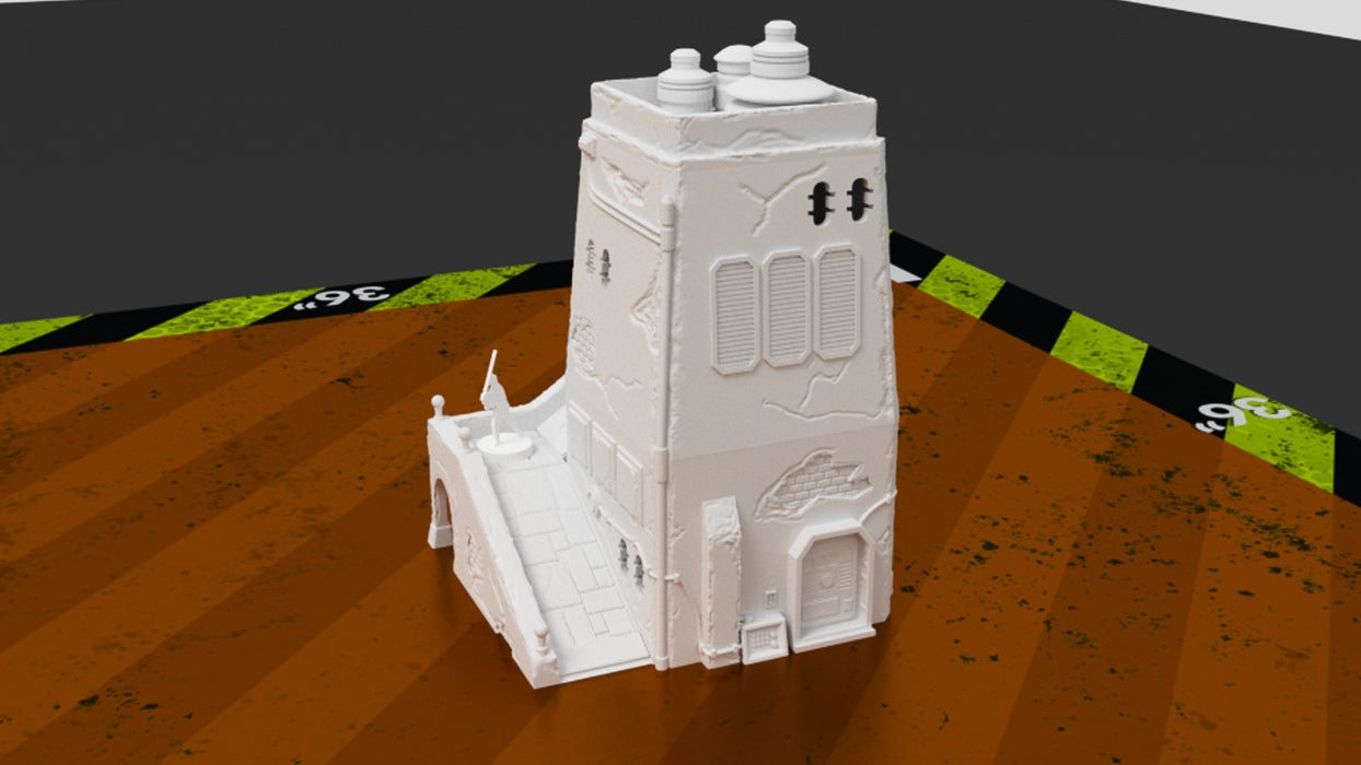 Corvus Games Terrain 3D printable 34mm tabletop wargaming scenery creating Jedha for Star Wars Legion