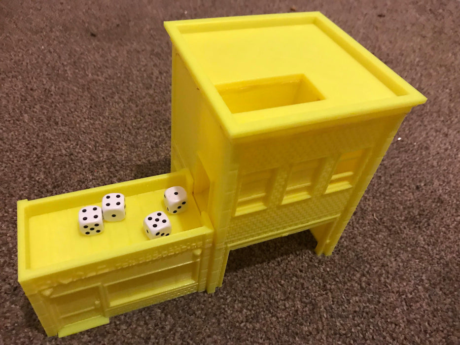 Urban Taxi Office Dice Tower Digital STL 3D printable