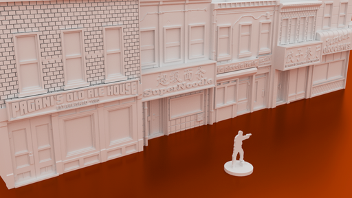 Corvus Games Terrain 3D printable Bleecker Street for urban games like Fallout, The Walking Dead, This Is Not a Test, Marvel Crisis Protocol, Last Days 28mm modern urban