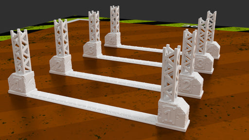 Corvus Games Terrain 3D printable Death Race Gates for Gaslands tabletop wargame