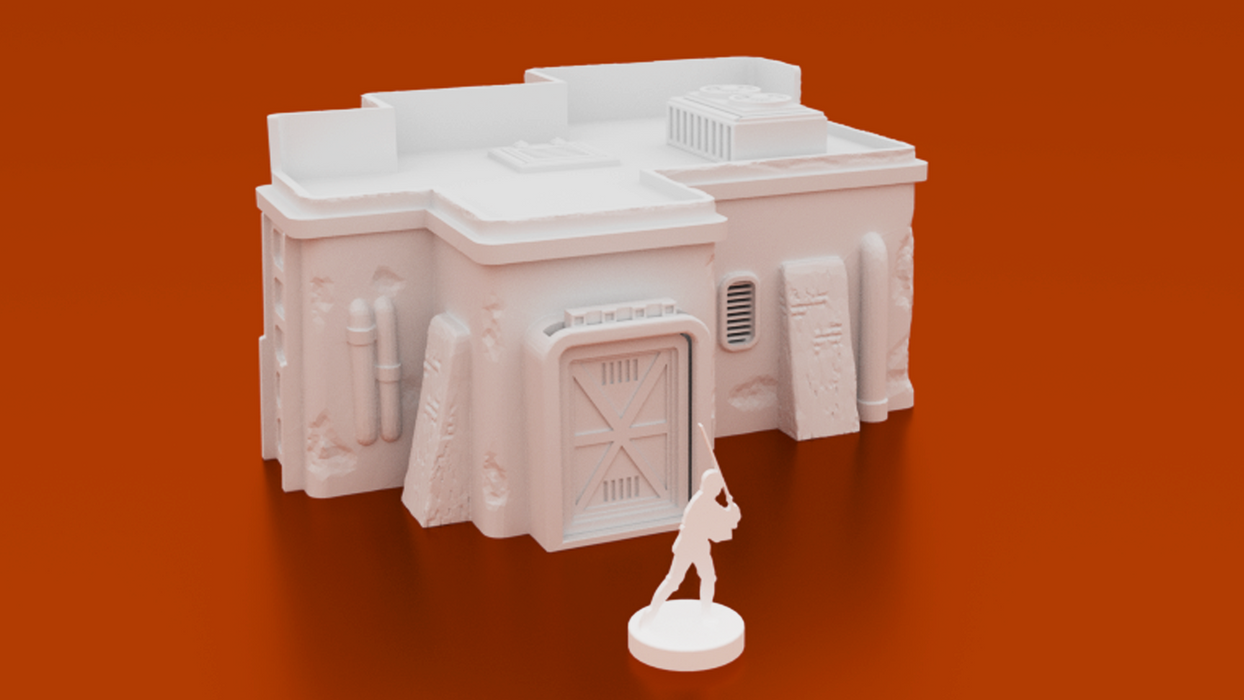 Corvus Games Terrain 3D printable Desert Building for Star Wars Legion wargaming terrain