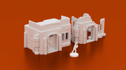 Corvus Games Terrain 3D printable Ruined Desert House for Star Wars Legion