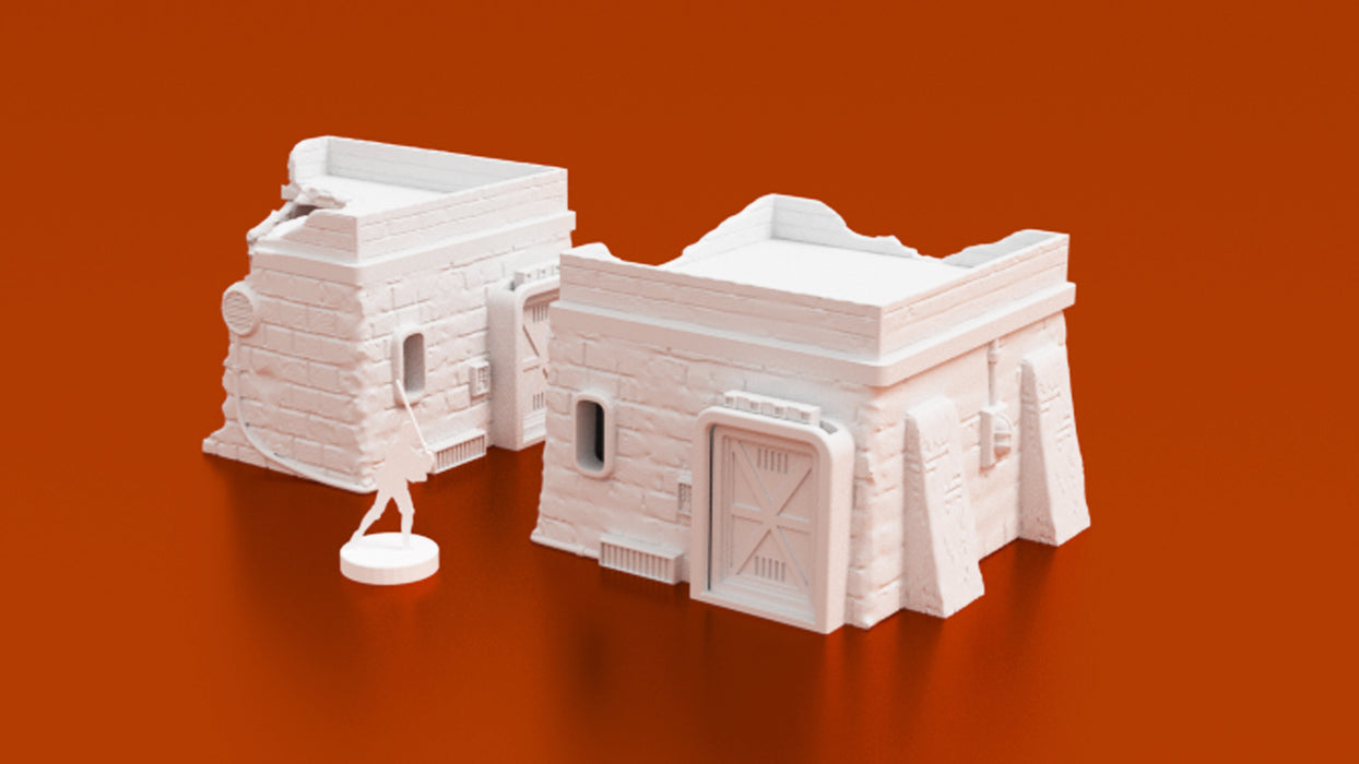 Corvus Games Terrain 3D printable Desert Town House for Star Wars Legion