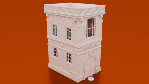 Corvus Games Terrain 3D printable Firehouse for 28mm urban Fallout, The Walking Dead, This Is Not A Test, Marvel Crisis Protocol