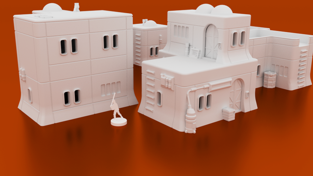 Corvus Games Terrain 3D printable Haarapan Plains House Lothal Star Wars Legion