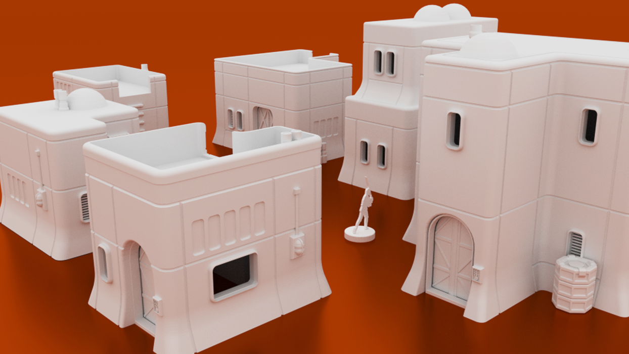 Corvus Games Terrain 3D printable Haarapan Plains House Lothal