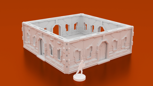 Corvus Games Terrain 3D printable Halycon Terminal Objective Room for Infinity The Game Openlock compatible