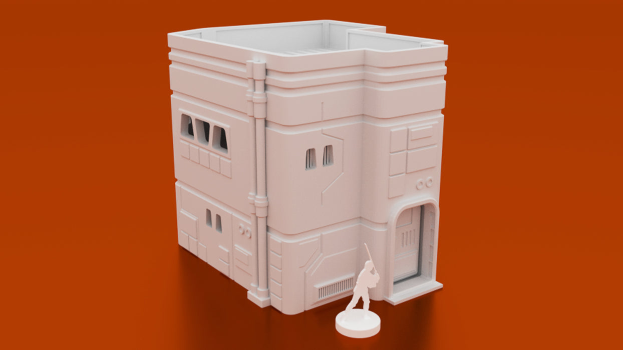 Corvus Games Terrain 3D printable Medium MidRim City house for Star Wars Legion, Infinity, Warhammer 40K