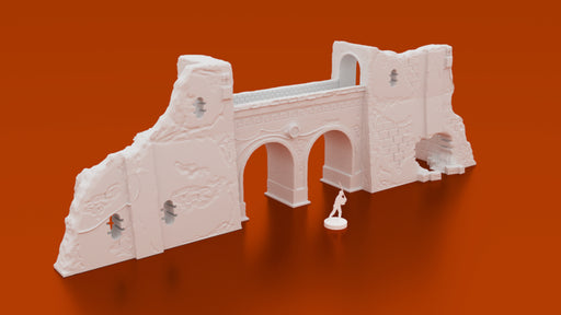 Corvus Games Terrain 3D printable Pilgim City ruined walls archway for Jedha Rogue One for Star Wars Legion tabletop wargame