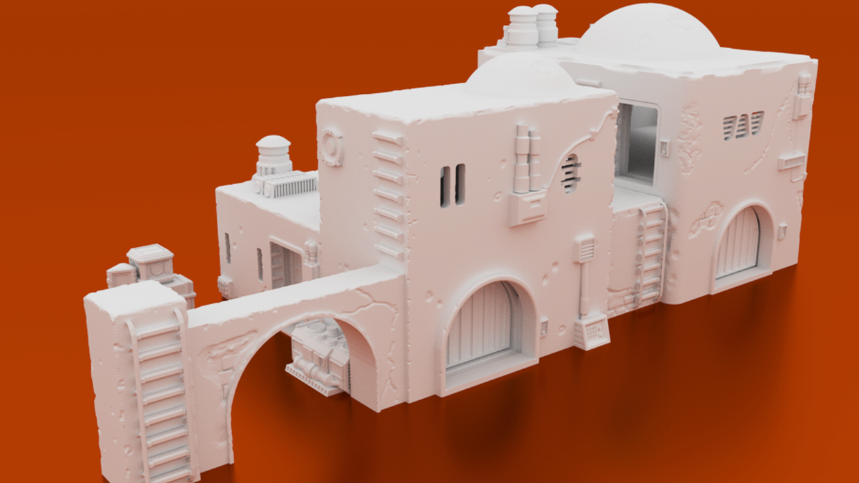 Corvus Games Terrain 3D printable Pilgrim City building compound for Star Wars Legion