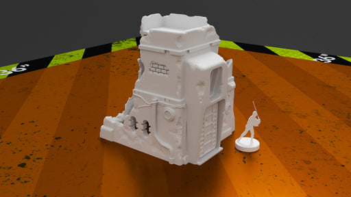 Corvus Games Terrain 3D printable Pilgrim City ruined building for Jedha in Star Wars Legion