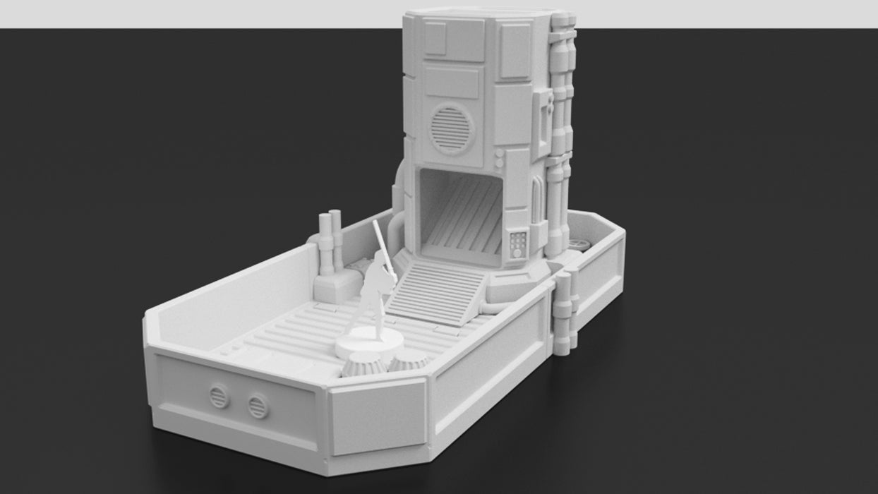 image relating to 3d Printable Dice Tower known as Pumping Station Galactic Cube Tower 3D printable
