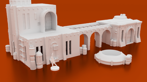 Corvus Games Terrain 3D printable Star Wars Legion Desert Compound Kaarsohns Refuge The Mandalorian