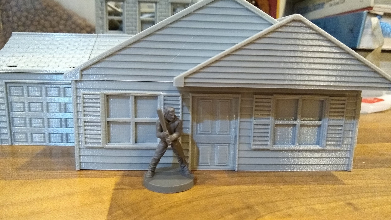 Corvus Games Terrain 3D printable Suburban House for urban games like Fallout, The Walking Dead, This Is Not a Test, Marvel Crisis Protocol, Last Days 28mm