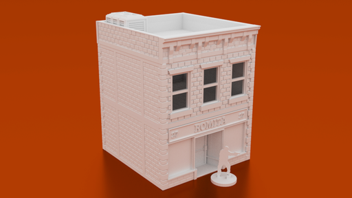 Corvus Games Terrain 3D printable Urban post apocalyptic shop and apartment for 28mm tabletop wargaming like Last Days, Fallout, This Is Not A Test, The Walking Dead All Out War, Marvel Crisis Protocol