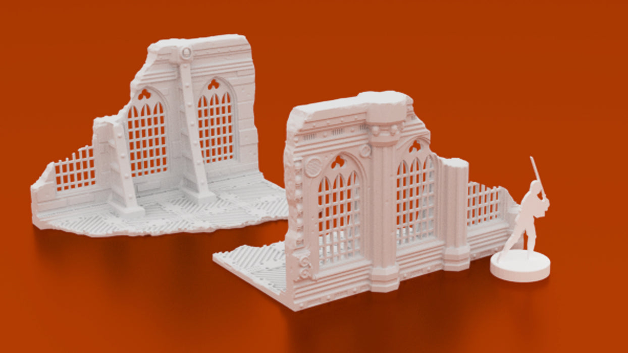 Corvus Games Terrain 3D printable Warhammer 40K Kill Team ruined building 28mm tabletop wargaming scenery