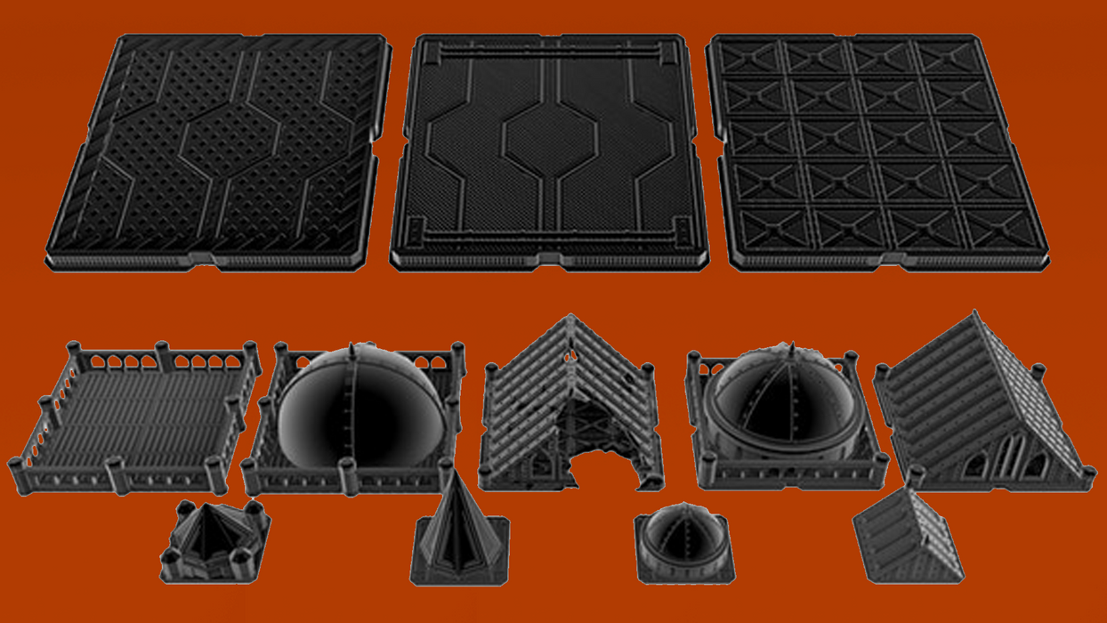 Corvus Games Terrain 3D printable Warhammer 40K and Kill Team compatible terrain Sector Corvus Prime