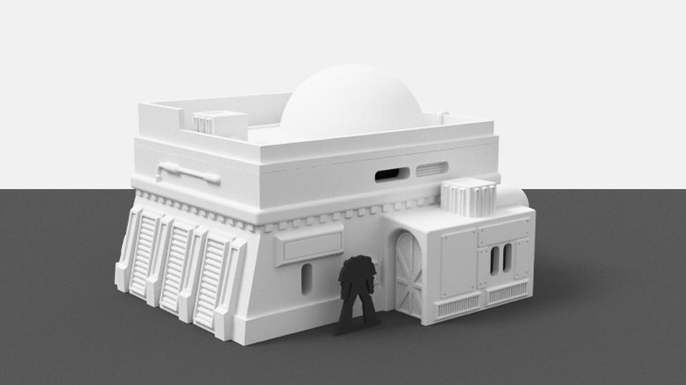 Corvus Games Terrain 3D printable cantina for 34mm miniature wargame Star Wars Legion