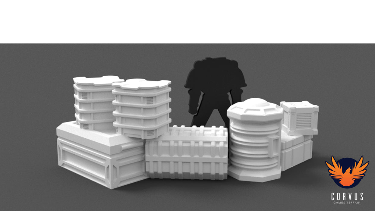 Corvus Games Terrain 3D printable defensive cover for Star Wars Legion and Warhammer 40K