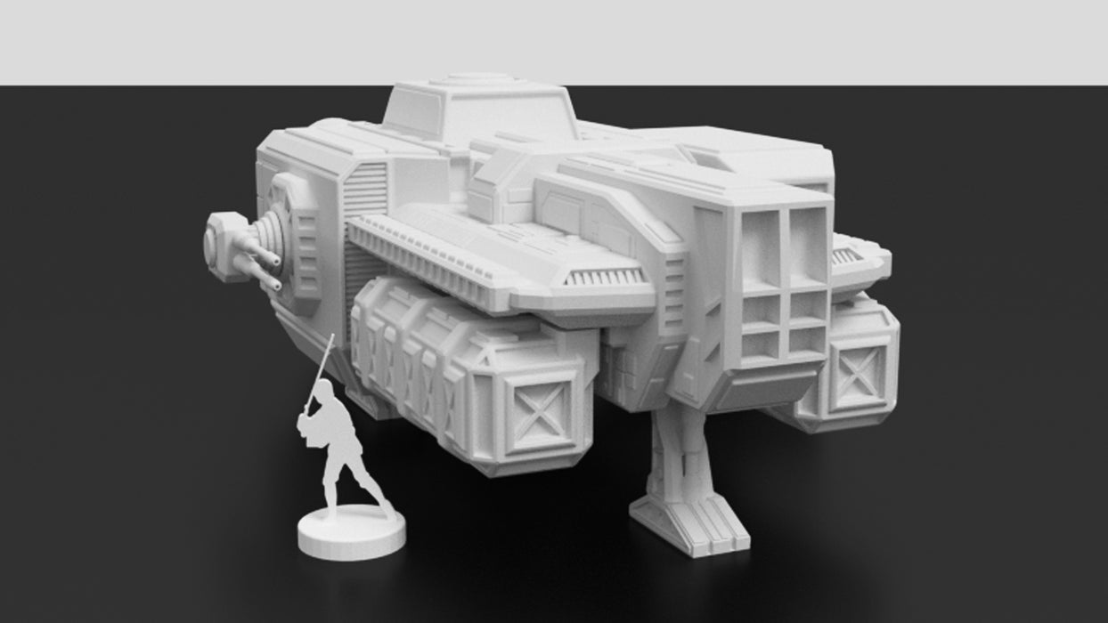 Corvus Games Terrain 3D printable freighter ship for Star Wars Legion