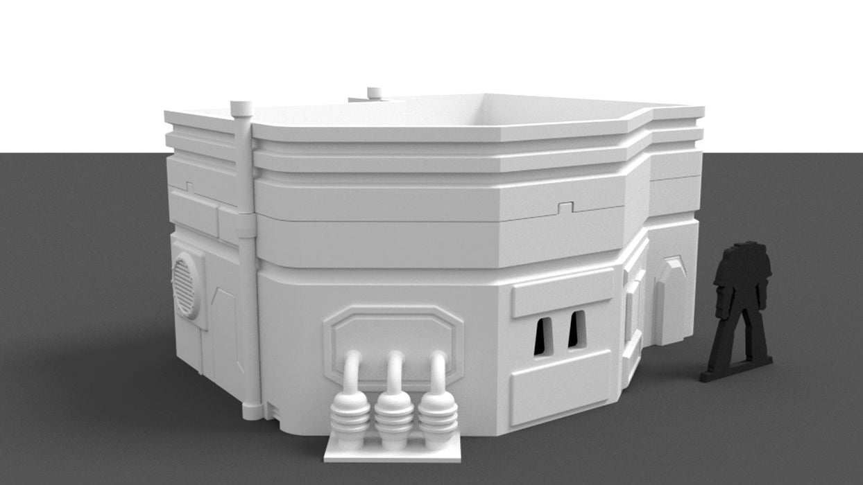 Corvus Games Terrain 3D printable medium size city house for Star Wars Legion, Infinity, and Warhammer 40k, Antares