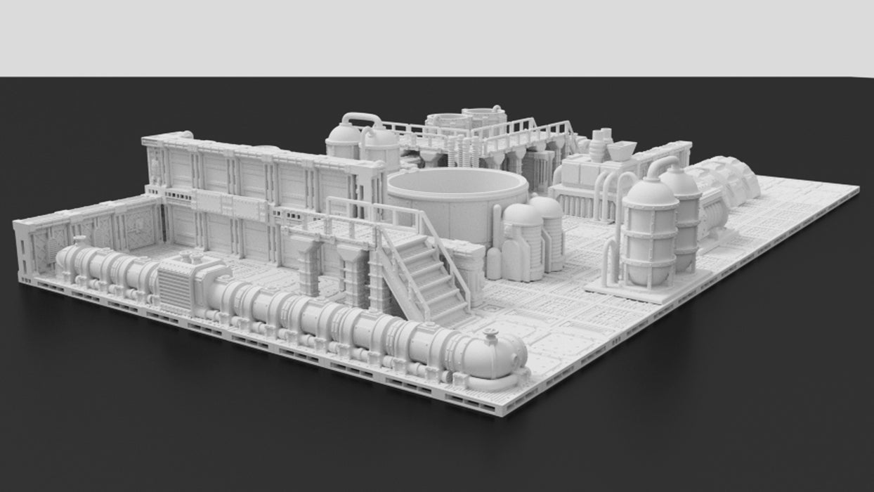 Corvus Games Terrain 3D printable modular tileset for Warhammer 40K, Kill Team, Necromunda, and Space Hulk