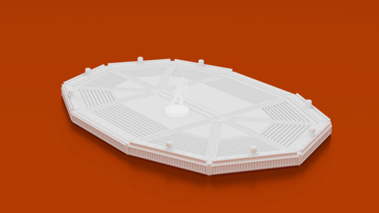 Corvus Games Terrain 3D printable openlock Sci-fi Landing Pad for Star Wars Legion, Warhammer 40k and Infinity