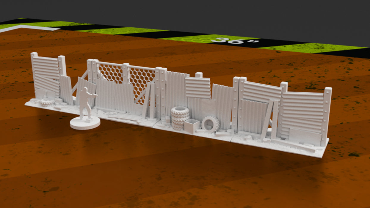 Urban Post-Apocalyptic Fence Barriers 3D printable
