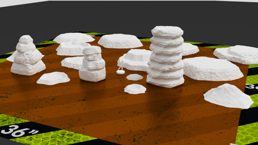 Corvus Games Terrain 3D printable rock formations, craters and hills for 15mm - 28mm tabletop wargames like Bolt Action, Flames of War, Star Wars Legion, Warhammer 40k