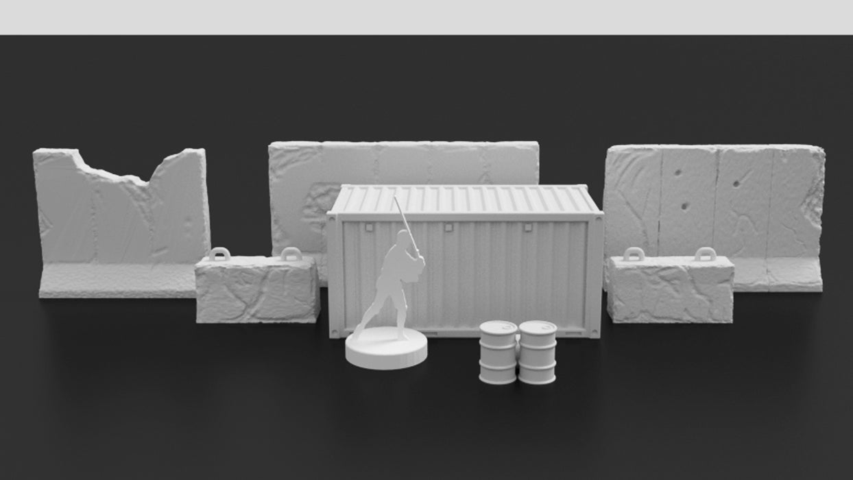 Corvus Games Terrain 3D printable scatter scenery for Gaslands and Star Wars Legion