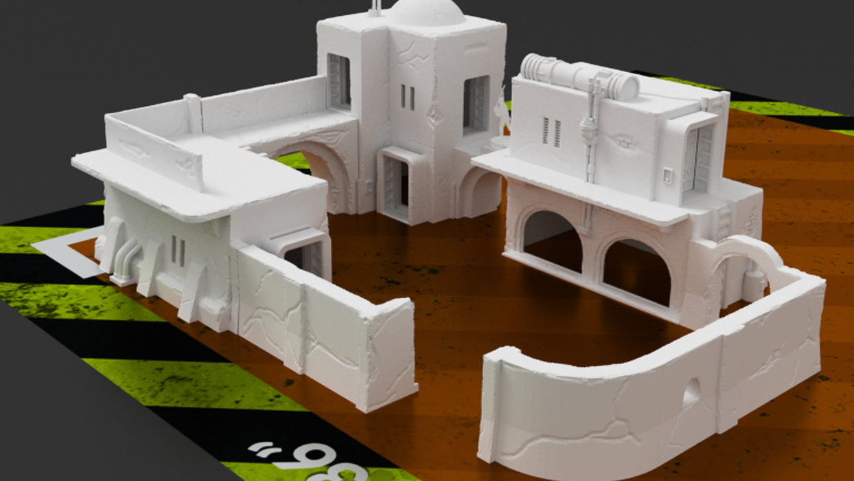 Corvus Games Terrain 3D printable scenery for creating Jedha in Star Wars Legion scifi tabletop wargames