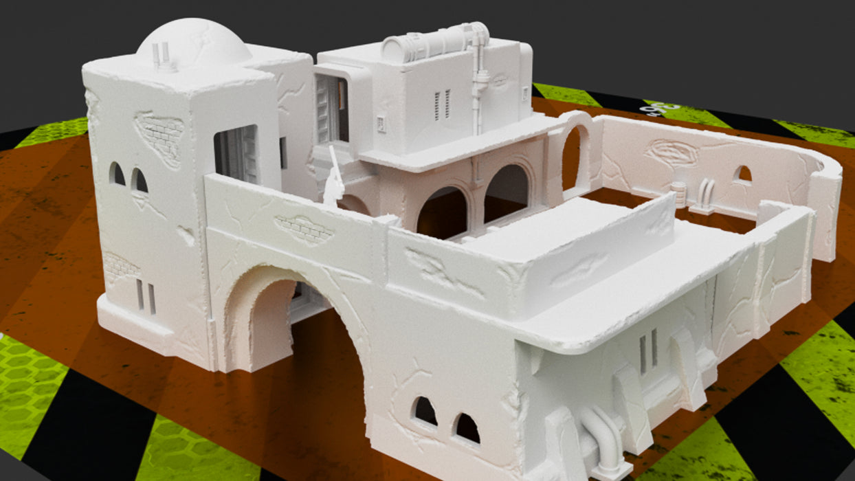 Corvus Games Terrain 3D printable scenery for creating Jedha in Star Wars Legion 32mm tabletop miniatures wargame