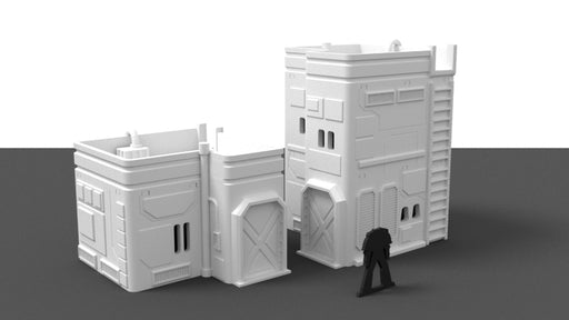 Corvus Games Terrain Medium City House 3D printed scenery for Star Wars Legion, Beyond The Gates of Antares, Warhammer 40K, and Infinity The Game
