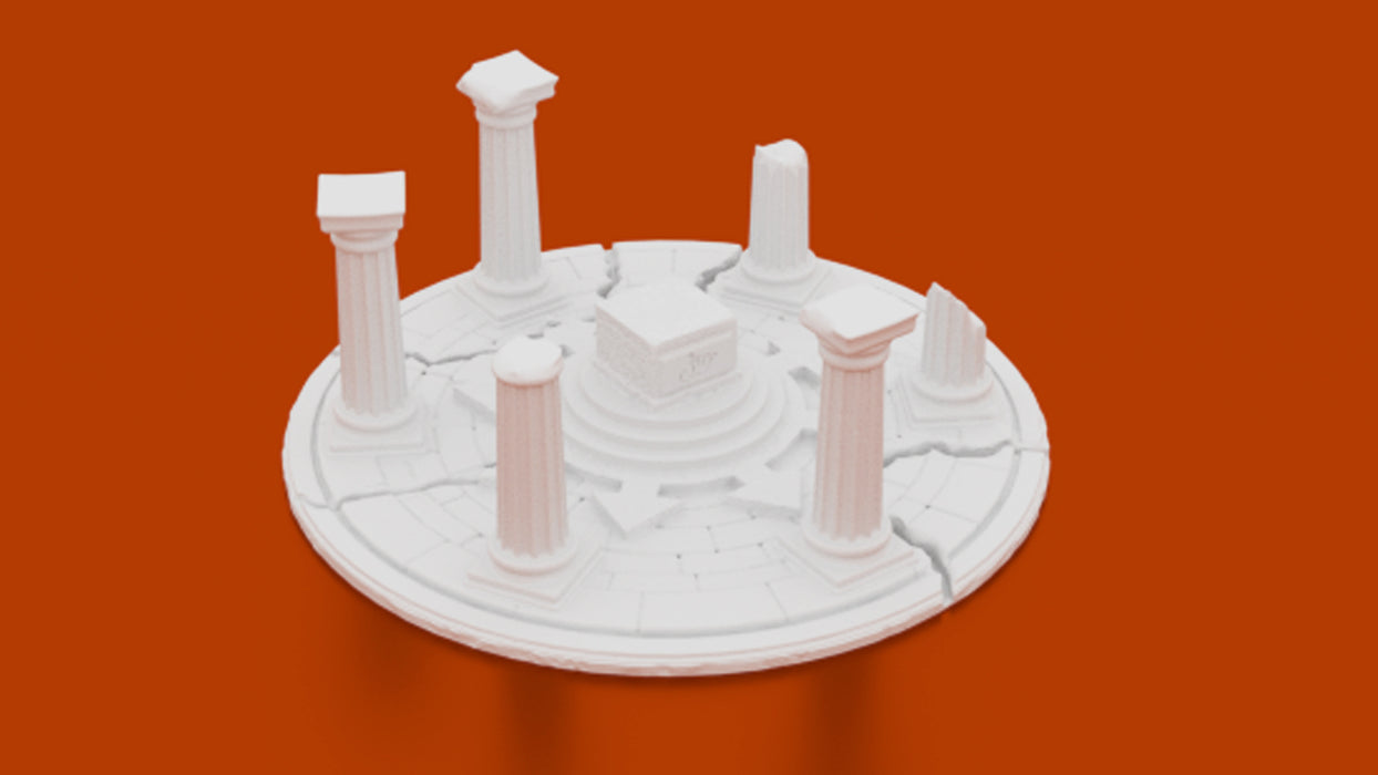 Corvus Games Terrain 3D printable stone chaos altar for 28mm fantasy games like Age of Sigmar