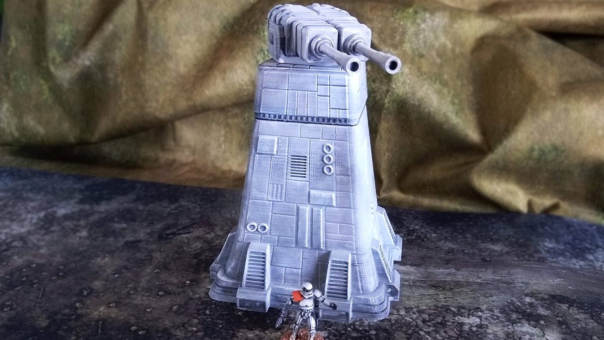 Corvus Games Terrain 3D printed Colony turbolaser town for Star Wars Legion, 40K and Infinity