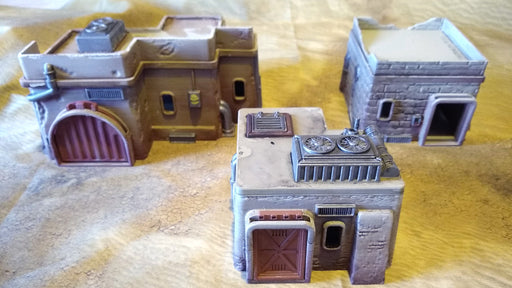 Corvus Games Terrain 3D printed Desert Building Bundle for Star Wars Legion, Warhammer 40K and Infinity