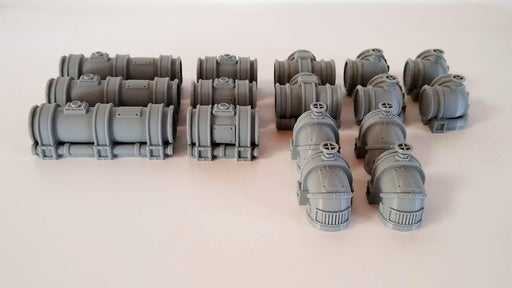 Corvus Games Terrain 3D printed Industrial Chemical Refinery Pipelines for 28mm wargaming Necromunda, Kill Team, Warhammer 40K, Fallout, This Is Not A Test, Star Wars Legion