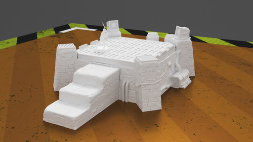 Corvus Games Terrain 3D printed Pilgrim CIty Jedha Landing Pad for Star Wars Legion and Warhammer 40K
