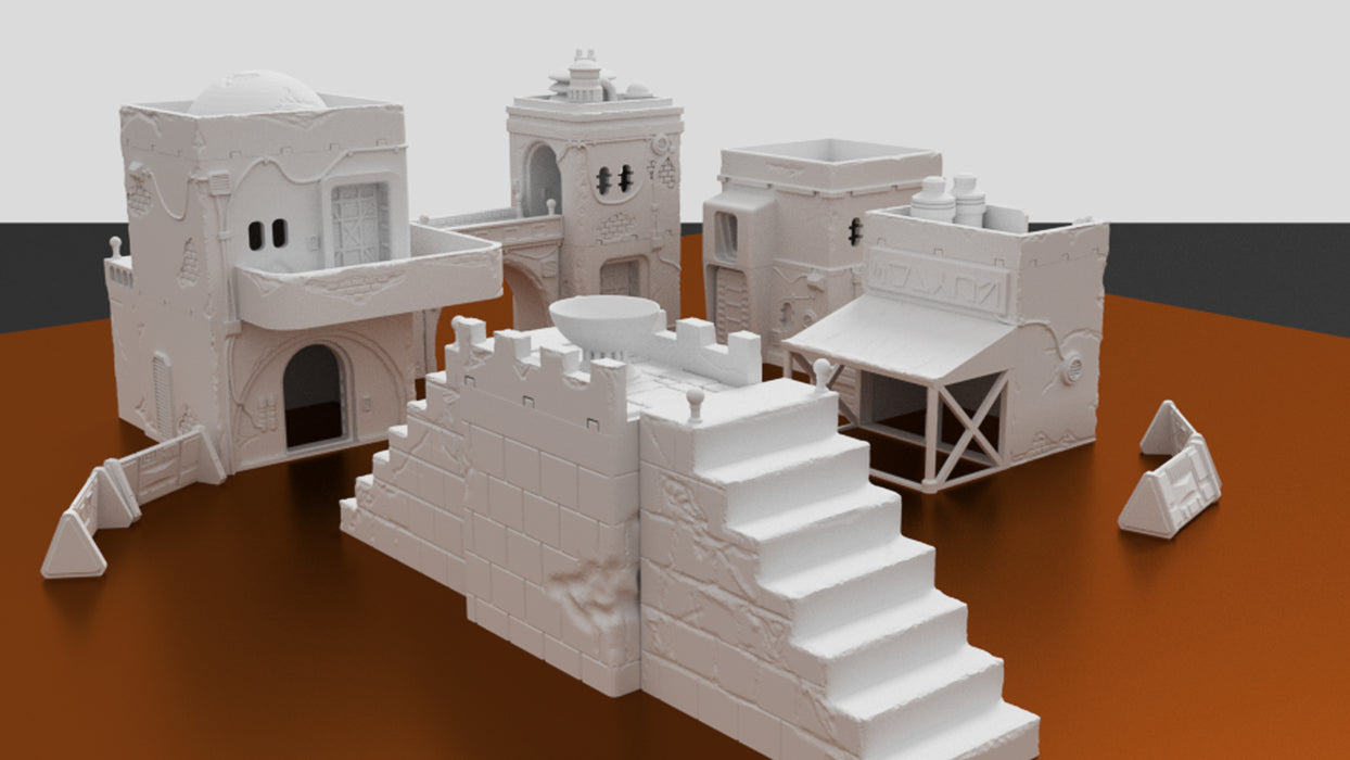 Corvus Games Terrain 3D printed Jedha city for Star Wars Legion