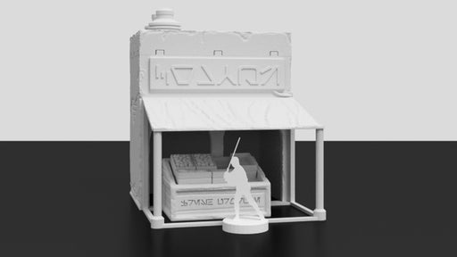 Corvus Games Terrain 3D printed Jedha themed Market Stall tabletop scenery for Star Wars Legion Pilgrim City