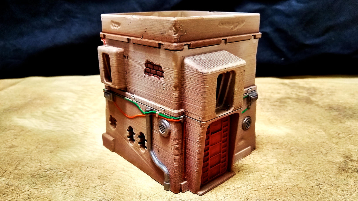Corvus Games Terrain 3D printed Pilgrim City House for Star Wars Legion for creating Rogue One Jedha