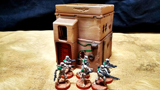 Corvus Games Terrain 3D printed Pilgrim City House for Star Wars Legion for creating Jedha