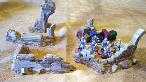Corvus Games Terrain 3D printed Pilgrim City Jedha ruins for Star Wars Legion
